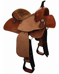 Seat Barrel Racer - Tan, Full, 14in