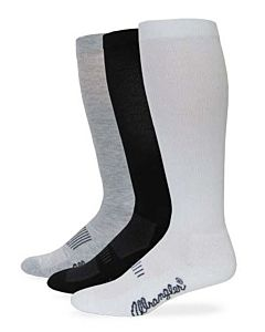 Men's Western Boot Sock - White, L, Regular