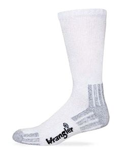 Men's Cotton Crew Sock - White, L, Regular