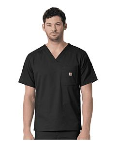 Men's Slim Fit Six Pocket Scrub Top