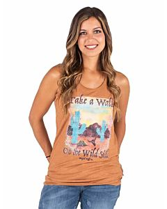 Women's Racerback Tank With Walk On The Wild Side Graphic