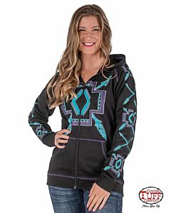 Women's Turquoise Graphics Full-Zip Sweatshirt