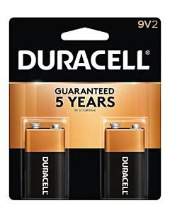 Duracell Alkaline 9V Batteries, 2/Pack