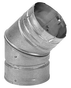 Pellet Stove Elbow 45 Degree - 3 in