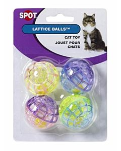 Lattice Balls With Bell - Multi, 4 Pack