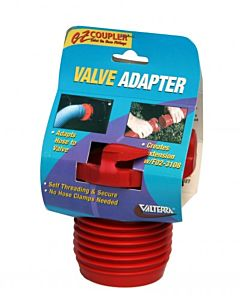 Coupler Valve Adapter - Red, 5 oz