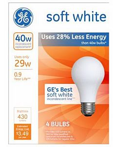 Halogen 4 Pack 29W Soft White Bulb