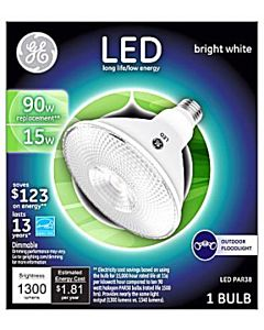 Led 15W Bright White Flood Light Bulb