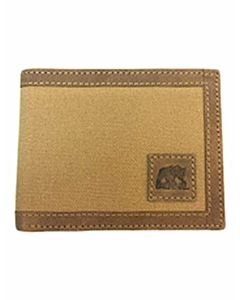 Men's Canvas Passcase With Leather Trim - Brown