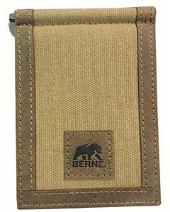 Men's Canvas Front Pocket Wallet - Brown