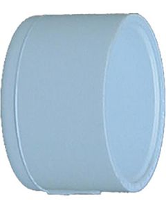 Pvc Pressure Pipe Cap - White, 2 in