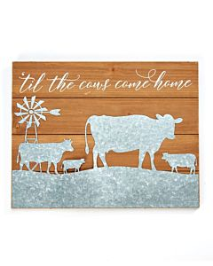 Cows Wall Sign - Wood|Metal