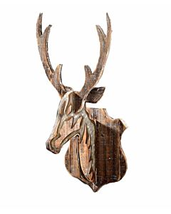 Deer Head Wood Wall Décor - 10.2X4.5X21 in