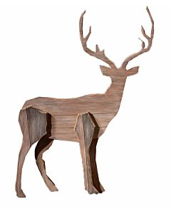 Wooden Deer Wall Décor - 21X1.5X28In