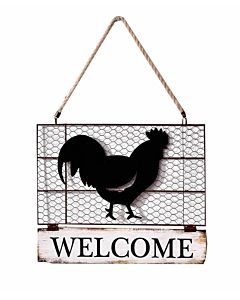 Rooster Wall Hanging - 17.1X14.6X1In