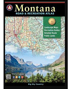 Montana Benchmark Road & Recreation Atlas 2016