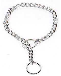 Fine Choke Chain Dog Collar