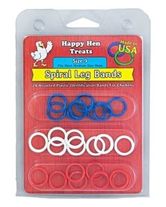 Spiral Leg Bands For Medium Hens - 26 Count