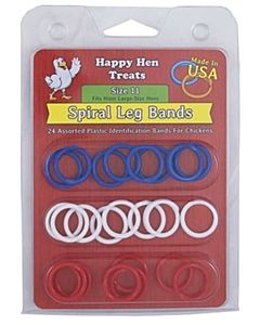 Spiral Leg Bands For Large Hens - 26 Count