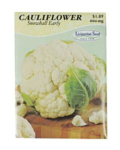 Snowball Early Cauliflower Seed Packet - 660 mg