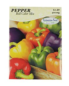 Bell Pepper Color Mix Seed Packet - 500 mg
