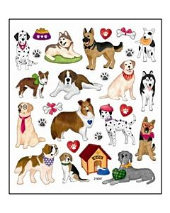 I Heart My Dog Stickers