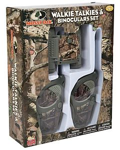 Mossy Oak Walkie Talkie Binoculars Set