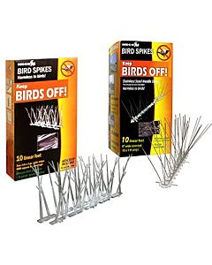 Stainless Steel Bird Spikes Kit, Covers 10 Feet