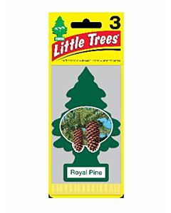 Car Air Fresheners - Green, Royal Pine, 3 Count