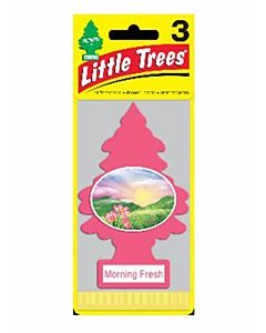 Car Air Fresheners - Pink, Morning Fresh, 3 Count