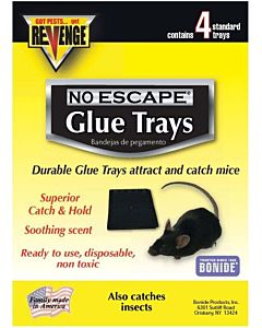 Revenge Disposable Mouse Glue Trays - 4 Pack