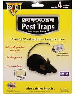 Revenge Disposable Glue Boards Mice - 4 Pack