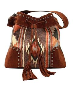 Women's Aztec Concealed Weapon Tote Bag - Brown