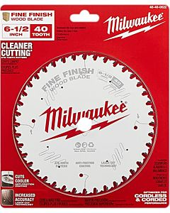 Circular Saw Finish Blade 40T - 6 1/2 in
