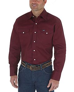 Men's Cowboy Cut Long Sleeve Western Snap Shirt