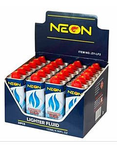 Single Neon Lighter Fluid Bottle - Blue
