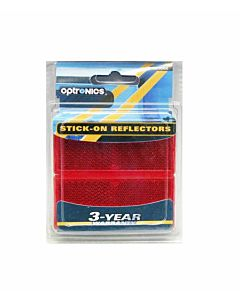 Re10Rk Self Adhesive Reflectors - Red,3 in