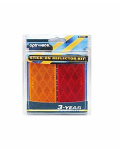 Re12Ark6 Adhesive Reflectors - Red/Orange,4.4 in