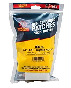 "2.5"" Square Cleaning Patches - 100 Count"