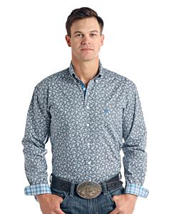 Men's Langunita Vintage Long Sleeve Stretch Shirt
