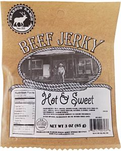 Hot & Sweet Beef Jerky -, 3 oz