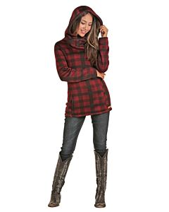 Women's Plaid Fleece Pullover