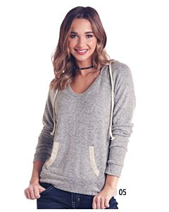 Women's Long Sleeve Brushed Knit Hoodie