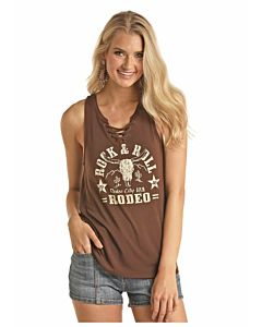 Women's Lace Up Front Tank