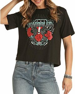 Women's Pistols And Roses Rambler Cropped Tee