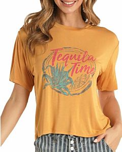 Women's Tequila Time Cropped Tee