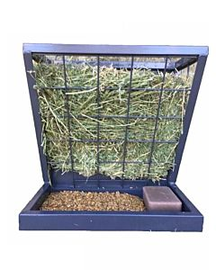 Rugged Ranch Sheep & Goat Hanging Feeder - Blue