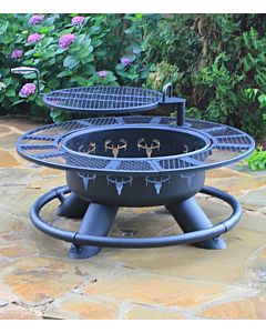 Outdoors Ranch Fire Pit - Black