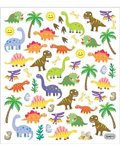 Dinosaur Designs Sticker Sheet - Multi, 3 +, 7 in X 8.25 in