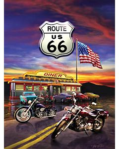 Kids Route 66 Diner 1000 Piece Puzzle - 8 Yrs. Old+